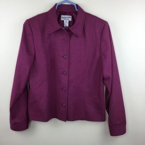 Pendleton Purple Jacket Blazer 10 100% Wool
